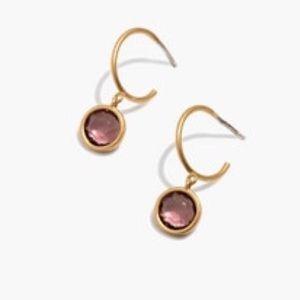 Madewell Glass Charm Earrings